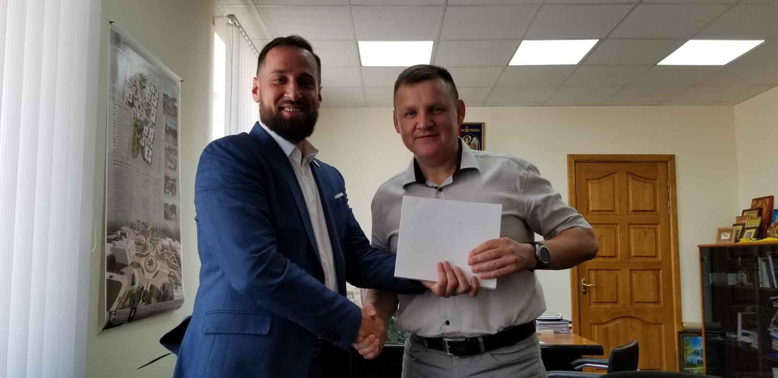Mayor of Slavutych (Town created for Chernobyl survivors), With Lucas Hixon, a Fan of the Book